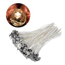 30 шт. свечные фитили 10 см Хлопок ядро предварительно смоченный с устойчивыми для изготовления свечей DIY высокого качества