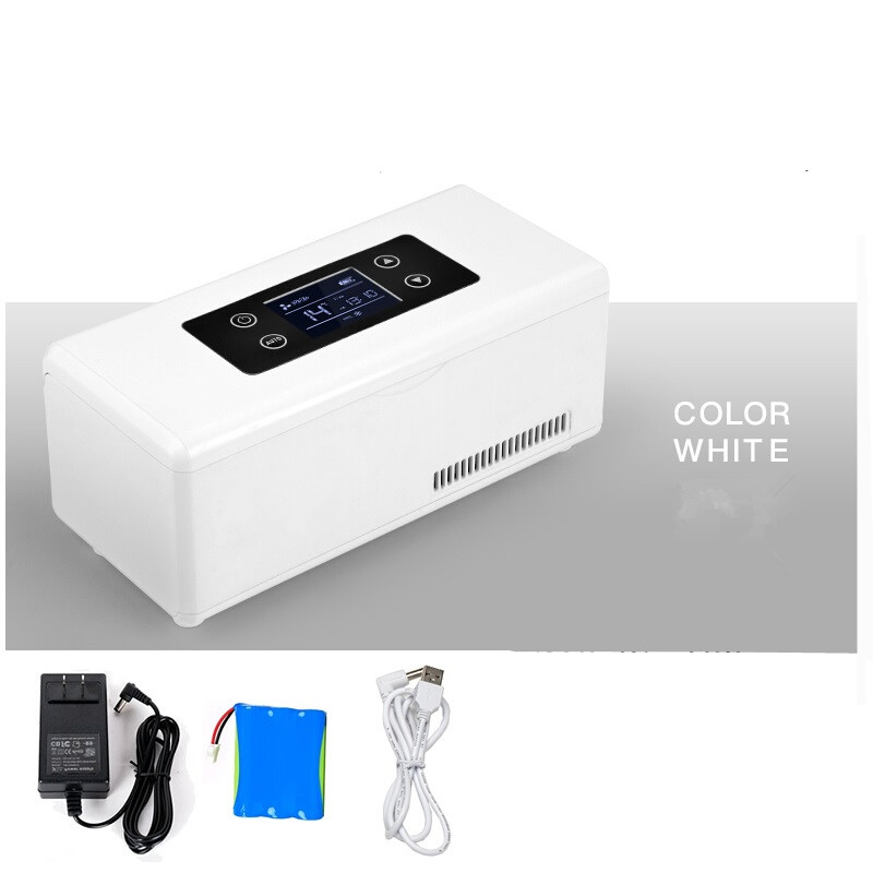 Insulin Cooler Car Refrigerated Electrical Auto Travel Refrigerator Outdoor Mini Insulin Fridge Portable Portable Medicine Box