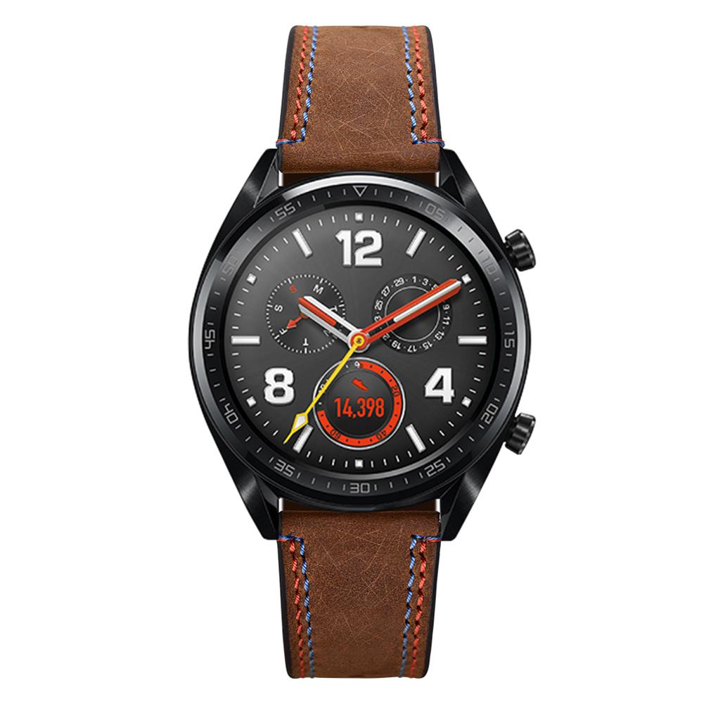 Image 5 - 22MM Smart Replacement Sports Watch With Leather Watch Strap Crazy Horse Double Line Wristband For Huawei Watch Honor Magic-in Smart Accessories from Consumer Electronics