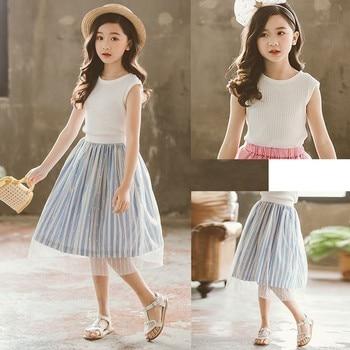 nueva productos f8f84 3f161 Faldas de retazos de encaje para niñas adolescentes algodón malla niños  tutú falda ropa nueva 2019 verano niños falda de princesa ropa