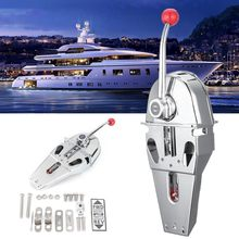 Handle Engine Control Box Top Mount 316 Stainless Steel Marine Boat Single Lever Dual Action Built-in Friction 45.5x15x12cm
