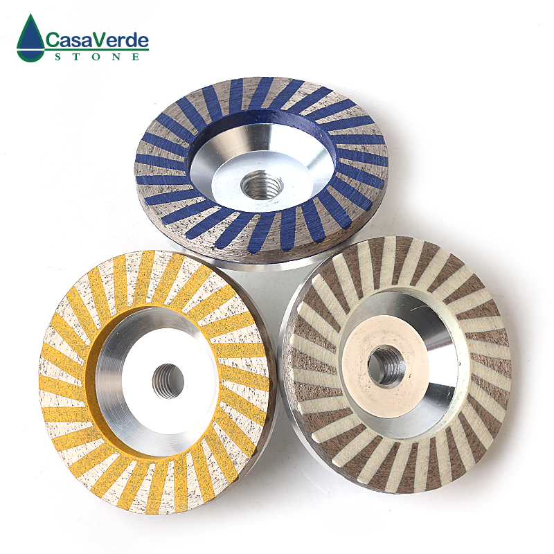 DC-ACW 3pcs/set D100mm 4 Inch Resin Filled Aluminum Diamond Grinding Wheels For Grinding Stone