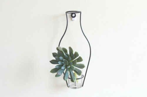 1PC Creaive Homeart styl skandynawski żelazna rama wazon roślina do powieszenia na ścianie suszony kwiat stojaki butelka DIY Creativite dekoracyjne półki