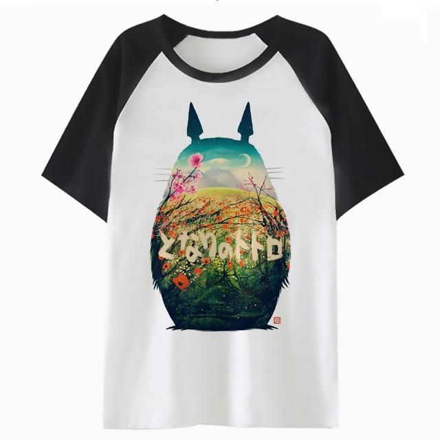 Camiseta de Totoro bicolor de manga corta