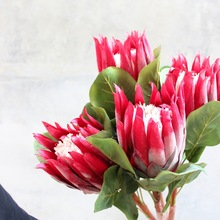 Superior Artificial Flowers Protea  High-End Silk Flower Decoration Soft Wholesale