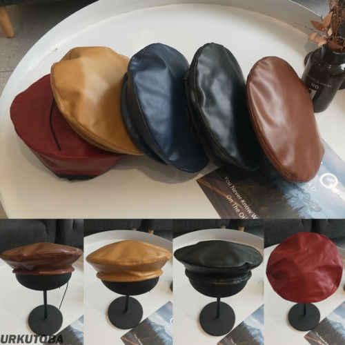Модный женский кожаный берет шляпа модные французские шапки малярные шляпы вечерние шляпы