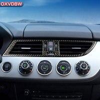 For bmw z4 e89 Carbon Fiber Car Interior Center Console Air Outlet Decorative Frame Cover Trim Car Styling 2009 2015 Accessories