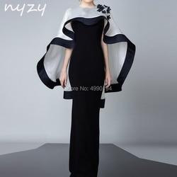 2 Piece Velvet Mother of the Bride Groom Dresses with Bolero Jacket Mermaid White Black Evening Formal Dress 2019 NYZY M102