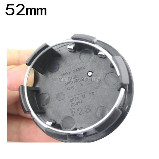 20pcs 52mm Car Wheel Center Hub Cap No Emblem Badge Accessories Styling D07A37191