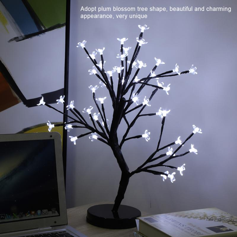 LED Christmas Lights Tree Lamp Luces Led Decoracion Night Light For Wedding Christmas Home Decorations Tree Light