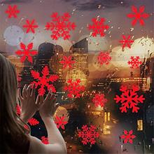 27pcs/set Snow Flakes Window Stickers Christmas Window Stickers  Christmas Window Wall Decals Xmas Christmas Decoration
