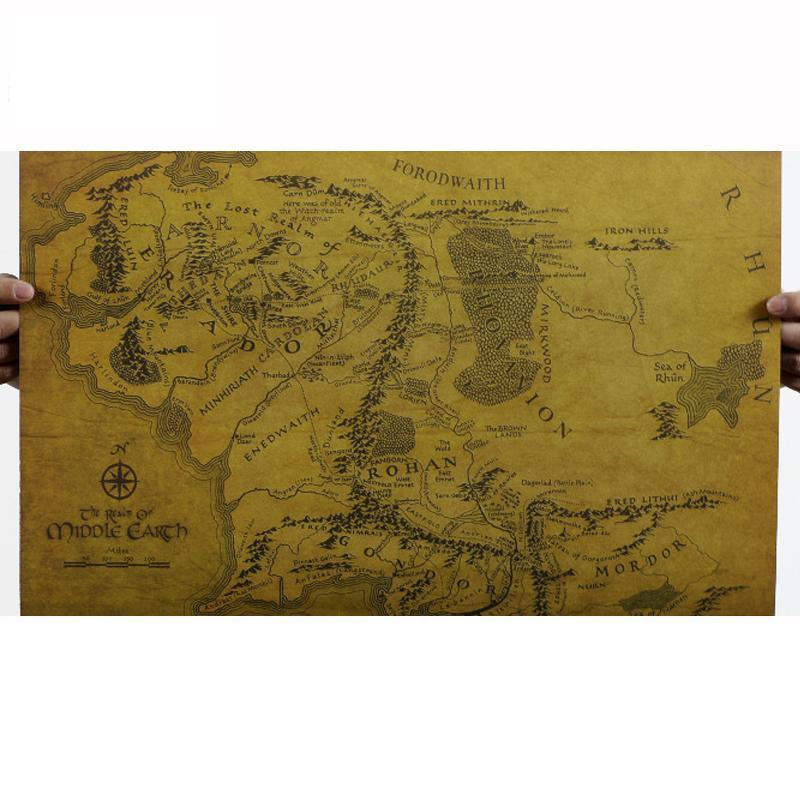 1PC Retro World Maps 51.5*36cm Creative Kraft Paper Maps For DIY Decoration Scrapbooking School Supplies Stationery