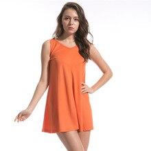Korean style dress sleeveless hollow out plus size dresses for women 4xl 5xl 6xl streetwear harajuku dresses orange v neck dress sexy scoop neck sleeveless hollow out high slit plus size dress for women