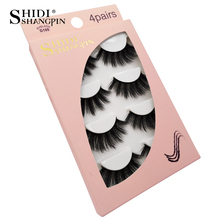 SHIDISHANGPIN full strip lashes 4 pairs 3d mink lahses makeup thick  eyelash 1 box false eyelashes maquiagem faux cils