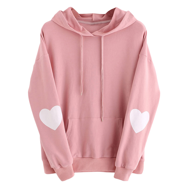 Heart Pattern Hooded