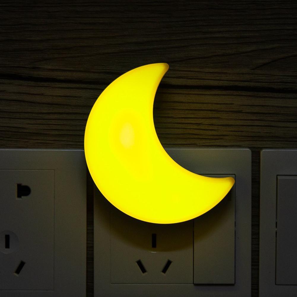 Light Sensor Control Mini Moon LED Night Light For Dark Night Children Bedroom Bedside Lamp US Plug Baby Sleeping Light