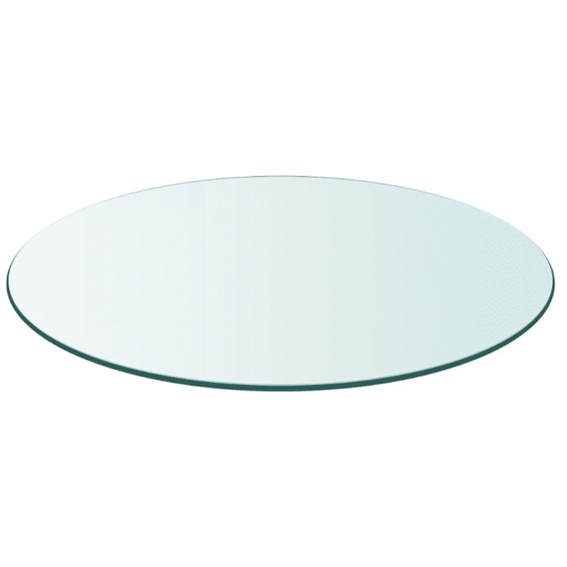 VidaXL Table Top Tempered Glass Round 800 Mm Durable And Easy To Clean With A Damp Cloth