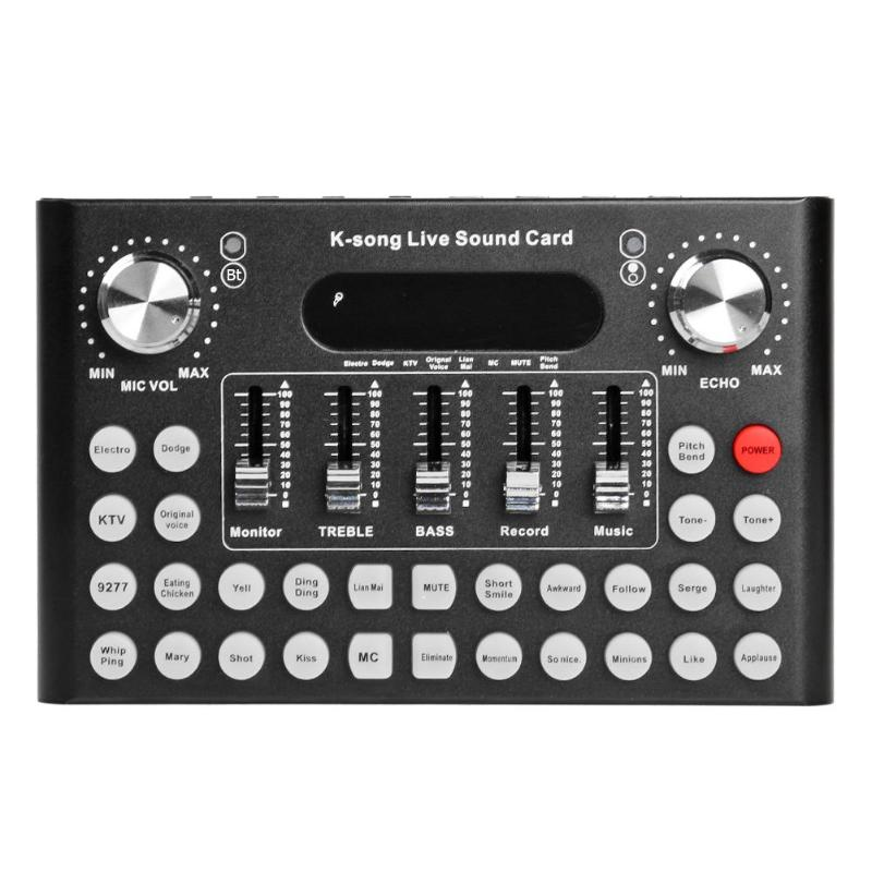 Studio Audio Microphone Webcast Streamer Live  USB Sound Card External Live Sound Card Audio Interface For Android Phone And PC