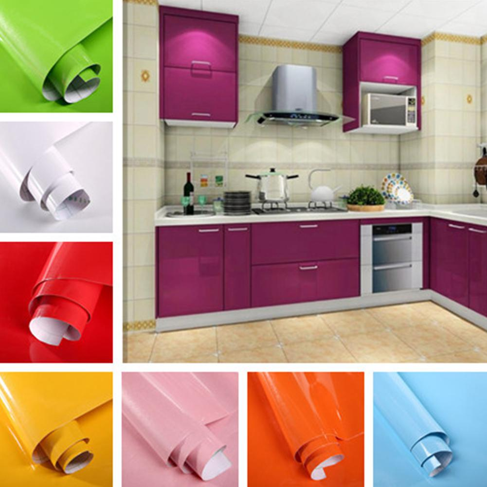Adeeing 5M Paint Waterproof Wallpaper Roll Decorative Film Self-adhesive Wall Stickers For Kitchen Furniture Sticker Home Decor