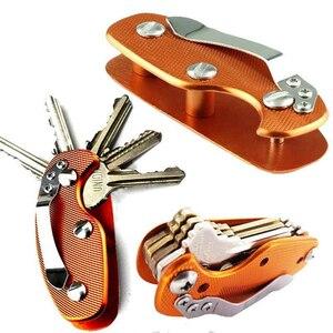 Image 3 - 다기능 야외 키 주최자 포켓 키 홀더 키 바 EDC 도구 휴대용 접는 키 체인 알루미늄 키 바