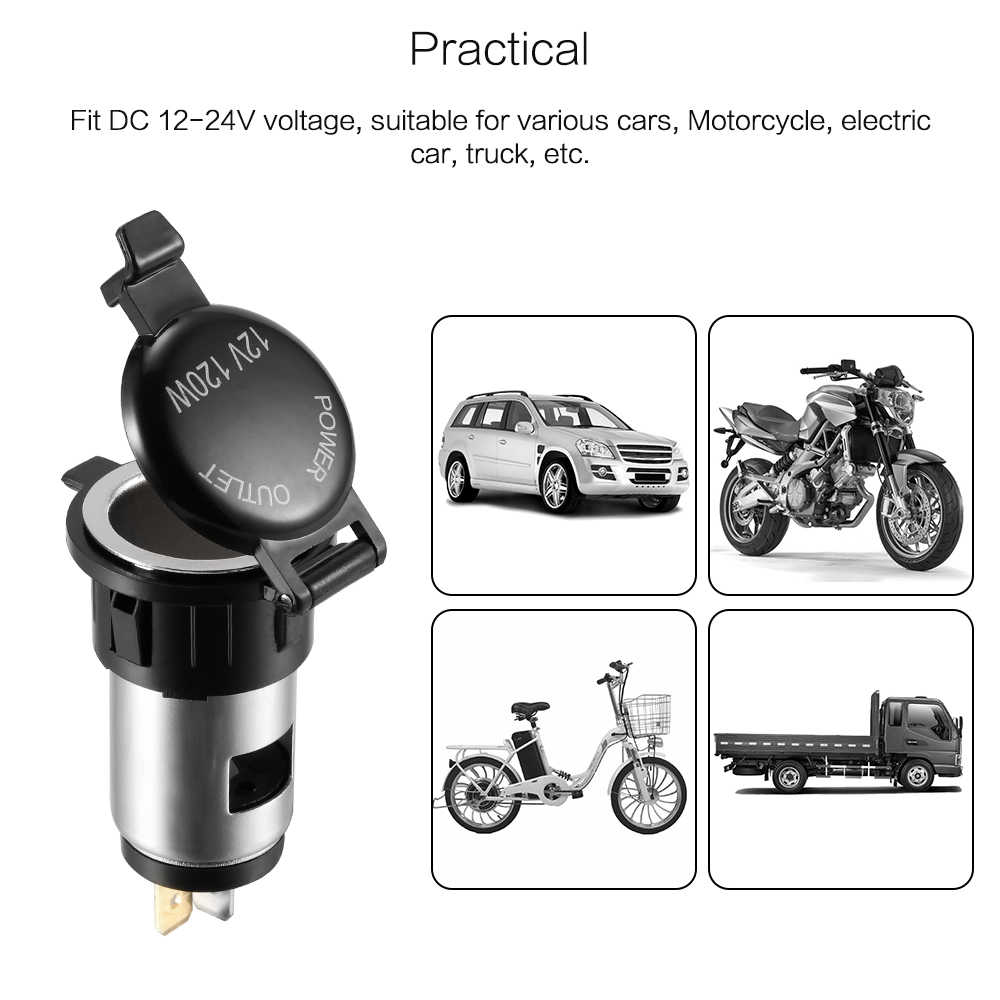 Female Cigarette Lighter Adapter Power Plug Plastic 12-24V Power Socket Car Cigarette Lighter Motorcycle Car Truck accessories
