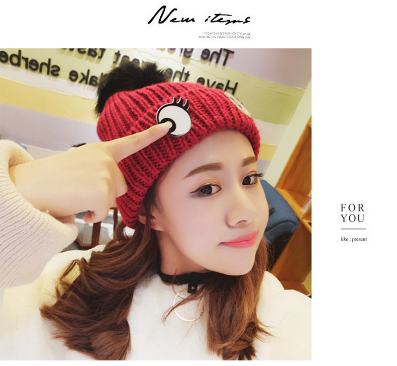 2019 Adult Cap Women Winter Hats Cute Eye Women Hat Man Cotton Ears Caps Adult Thick Warm   Skullies     Beanies