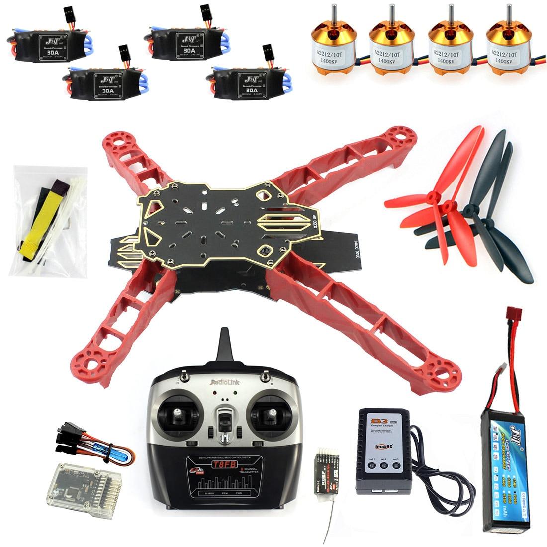 Kit complet Q330 cadre RadioLink T8FB transmetteur QQ Super contrôleur moteur ESC pour bricolage RC DroneRacer avion F11797-I