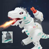 Children Intelligent Electric Remote Control Dinosaur Toy Rechargeable Spray Tyrannosaurus Rex Rocket Launch Space Dinosaur Toy