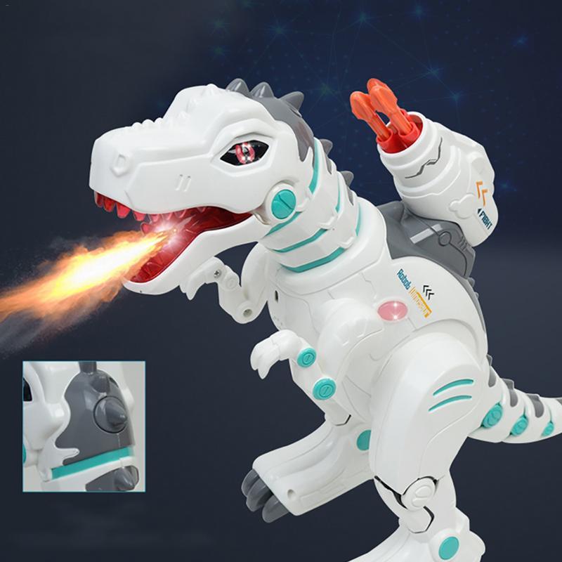 Enfants Électrique Intelligente Télécommande Dinosaure Jouet Rechargeable Pulvérisation Tyrannosaurus Rex Rocket Lancement Espace Dinosaure Jouet