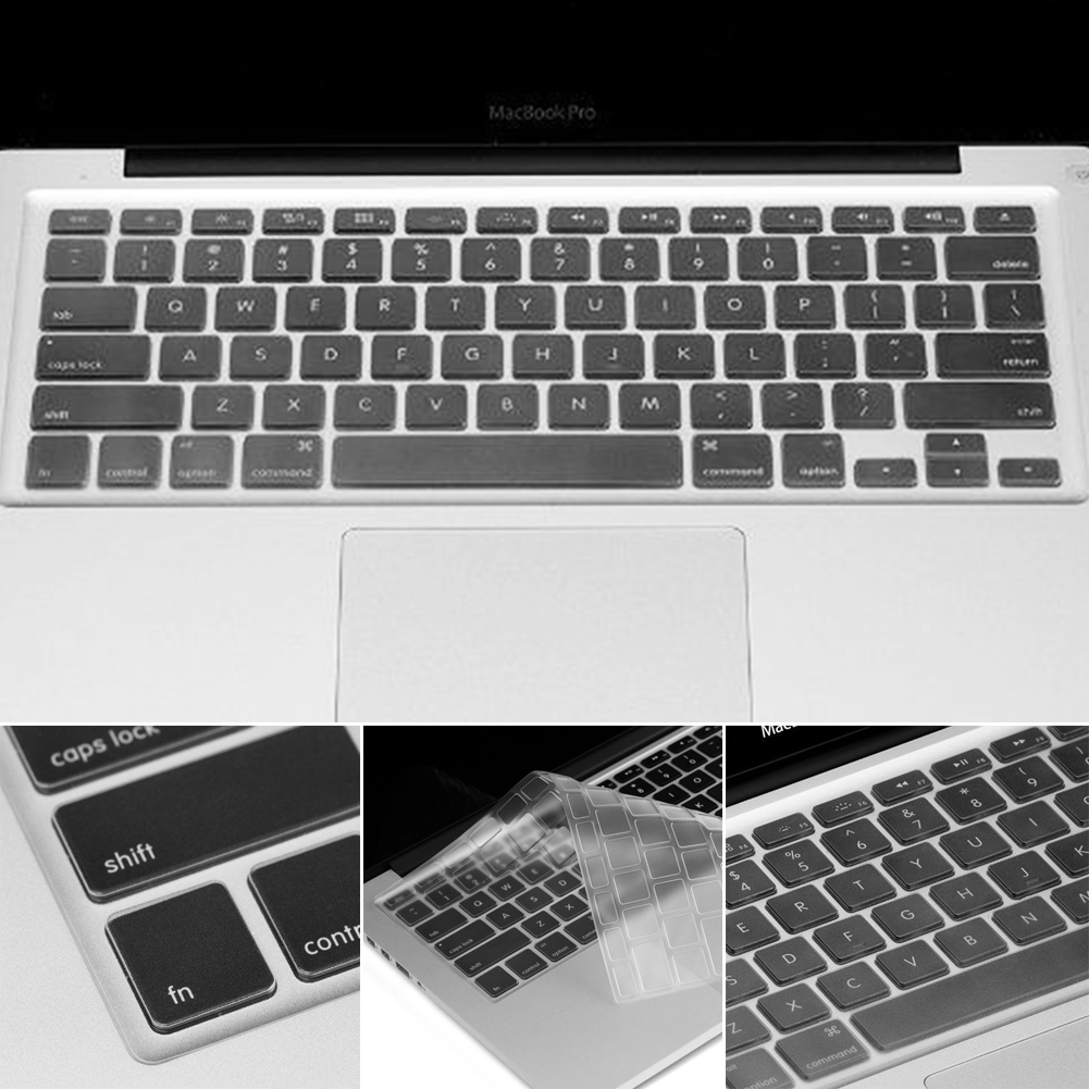 US TPU Keyboard Cover Skin Protector for MacBook Pro 13 15 17 Air 13-Clear