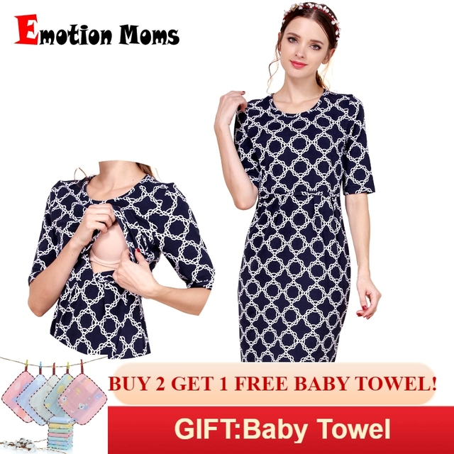 43b8e97381b1 Emotion Moms New Cotton Maternity Clothes Party Maternity Dresses  Breastfeeding Clothes for Pregnant Women Summer Nursing Dress