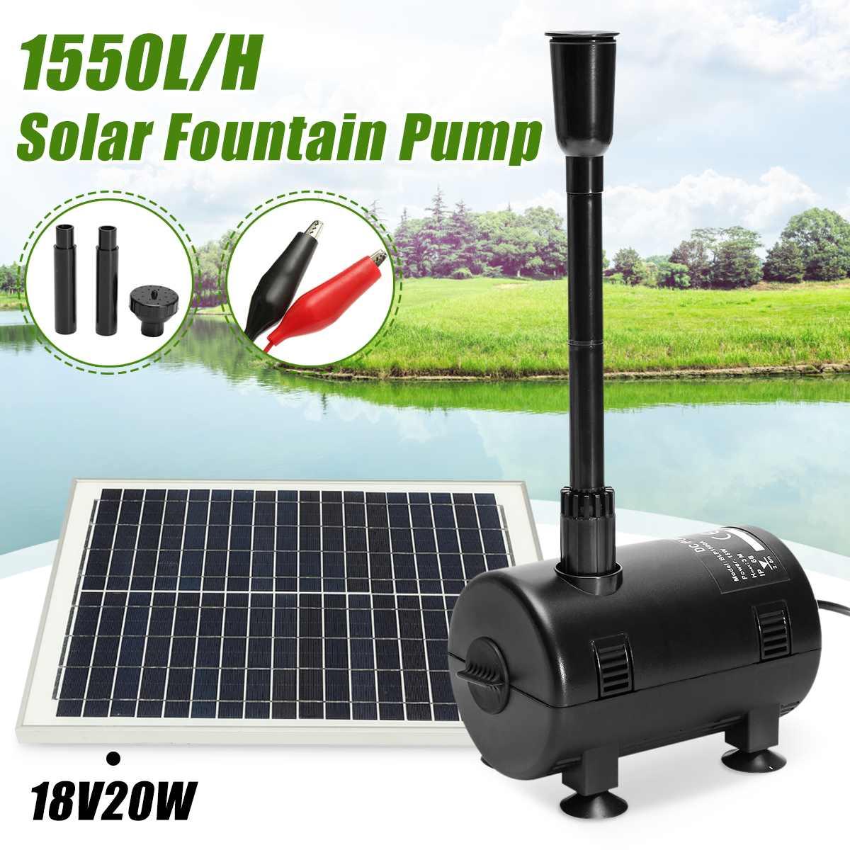1600L/H 16 W Mini pompe à fontaine Submersible à énergie solaire arrosage fournitures de jardin étang réservoir de poissons pompe à eau Submersible 12 V-24 V