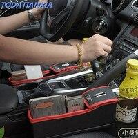 Car Seat Crevice Storage Box Accessoires for radio 2 din android skoda rapid fiat bravo mercedes w210 nissan qashqai volvo s80
