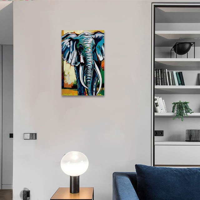 """Abstract Elephant Moon Wall Canvas Prints Oil Art Painting Without Frame For Home Decor And Wall Decoration Paintings 20"""" X 30"""""""