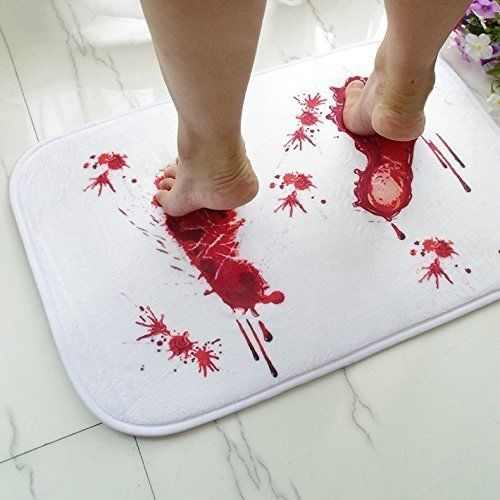 Creative Horror Bloody Footprints Water Absorption Non-slip Mat/Rug for Bathroom