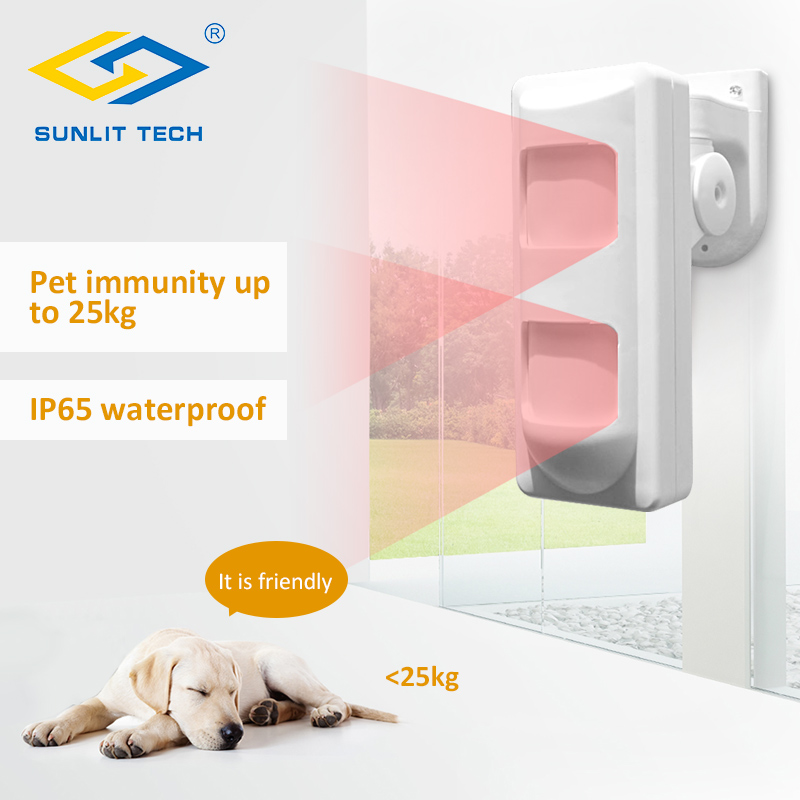 1 2 5pcs Wired Dual PIR Microwave Motion Sensor Detector Outdoor Waterproof Pet Immunity Friendly Sensor