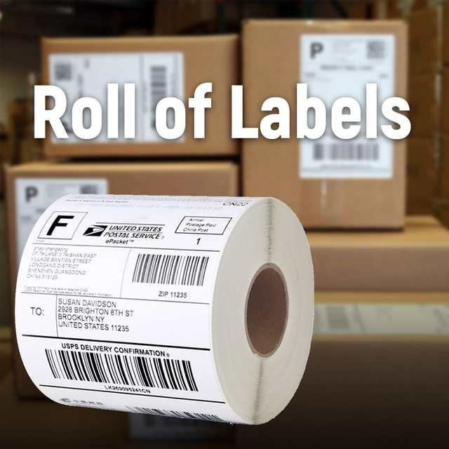 US $8 99 |Postage Replacement Labels Thermal Labels Compatible Shipping  Address Internet For Dymo Labelwriter 4XL Printer-in Cash Register Paper  from