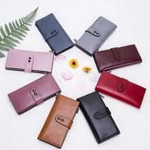 2018 New Style Korean-Style Ms Clutch Double Closure Purse Fashion Large Capacity Long Handbags Wholesale