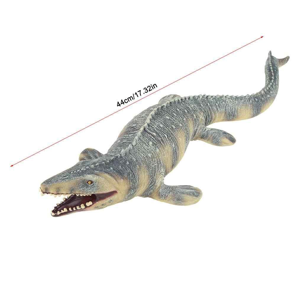 45 см реалистичный динозавр Фигурки игрушки для детей Mosasaurus динозавр игрушка животное мягкая Mosasaurus модель динозавра