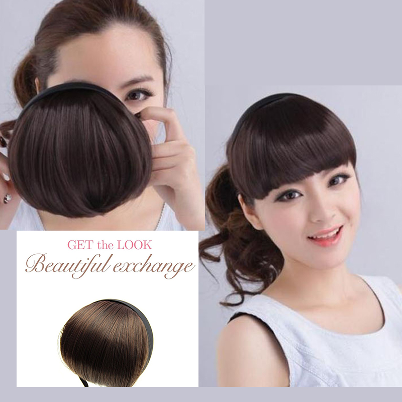 New fashion bangs style Hair Accessories Wig Bang Hairband Girls DIY   Headwear   Hair Jewelry for Women 4 colors