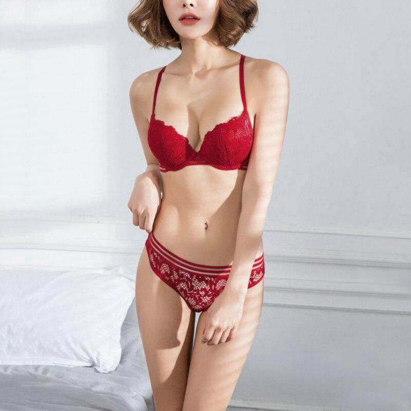 Sexy Push Up   Bra     Brief     sets   Lace Women Underwear Cup B Lace   Bra     Set   Panty   Set   Intimates Women Comfortable   Bra     Brief     Sets