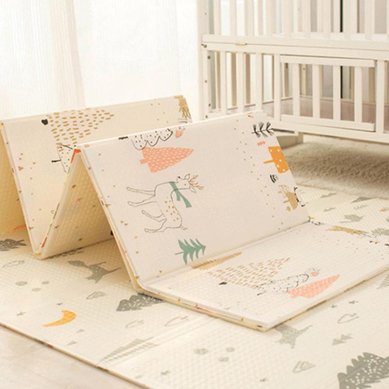 Infantile brillant enfants tapis de jeu pliant Puzzle tapis de jeu tapis de jeu pour les nourrissons 200*150*1 cm mousse ramper tapis Pack et jouer matelas