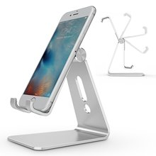 купить 270 Degree Rotation Aluminum Alloy Holder Desktop Tablet PC Mobile Phone Stand Holder Bracket For iPhone X 8 iPad Nexus Samsung по цене 258.7 рублей