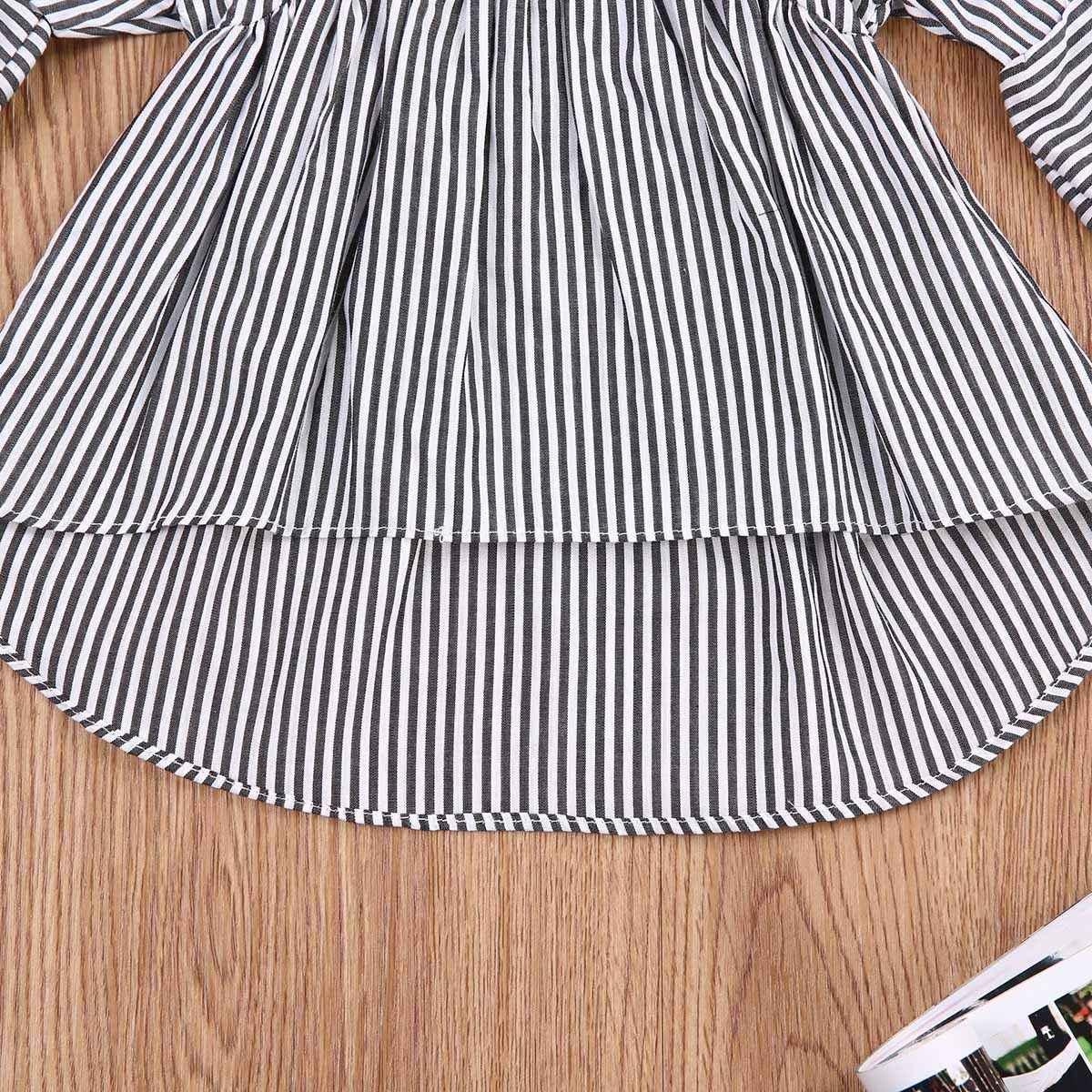 Pudcoco 2019 חדש מותג ילדים בנות נסיכה ארוך שרוול חולצות חולצה שמלת פעוט תלבושות