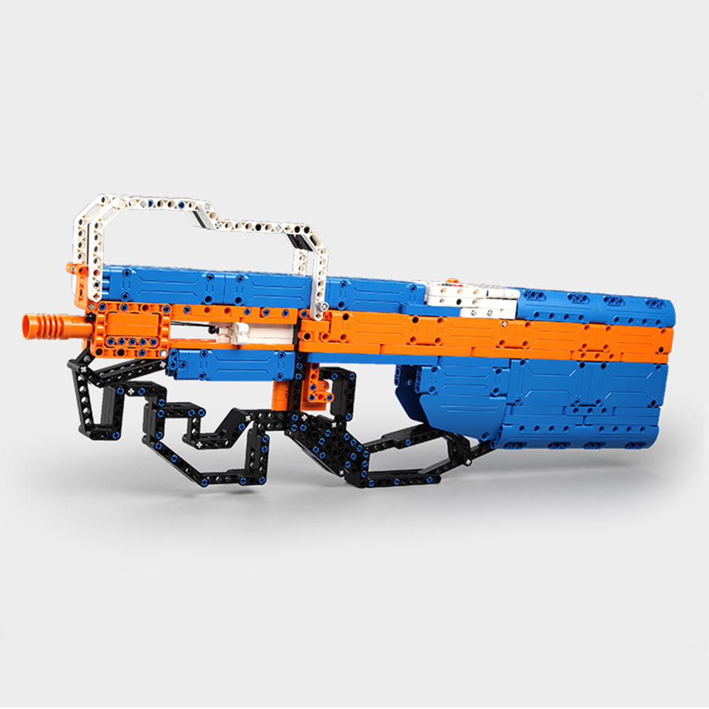 building blocks P90 Assualt Rifle gun  military bricks weapon set can fire  rubber band  toy for children boys 3