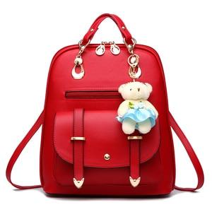 Image 3 - 女性 mochila 女性 bagpack 女の子ための十代の簡潔な女性のバックパックバッグ嚢 a ドスバックパック sırt çantası ミニバックパック