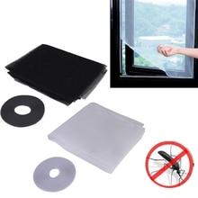 DIY Magic Sticker Window Mesh Door Curtain Snap Net Guard Mosquito Fly Bug Insect WXV Sale insect mosquito self adhesive window mesh door curtain