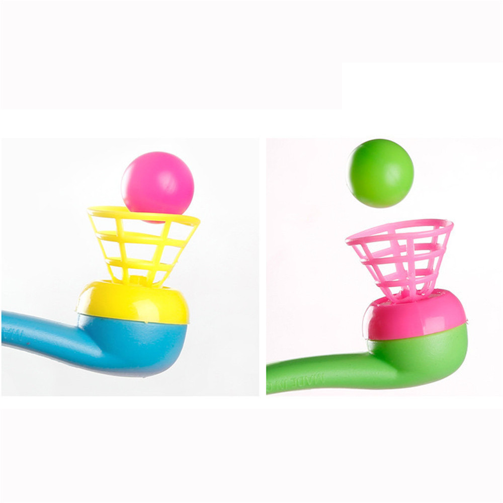 Presale 5pcs Gags Practical Jokes Blow Pipe With Balls Classics Party Bag Wedding Kids Blow Ball Blowing Exercises Nostalgia Toy in Gags Practical Jokes from Toys Hobbies