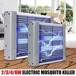 2/3/4/6 W Mosquito asesino lámparas LED de luz de la noche de enchufe eléctrico de mosca del Mosquito asesino de Zapper bicho insecto física trampa AntiMosquito