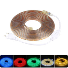 ZINUO IP65 Waterproof SMD3014 LED Strip Light AC220V SMD2835 Flexible Ribbon Tape White/Warm White 5M 10M